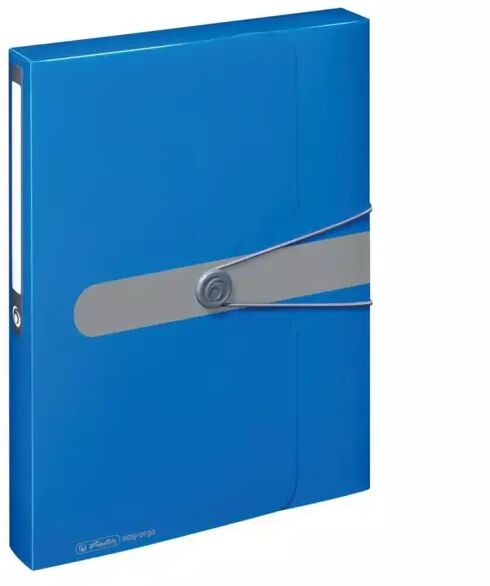 Teczka A4 PP z gumką Easy Orga niebieska - HERLITZ