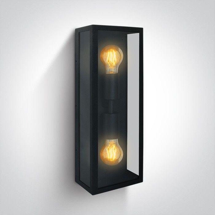 Kinkiet elewacyjny Gabbia 2 punktowy czarny IP43 67406B/B - OneLight Do -17% rabatu w koszyku i darmowa dostawa od 299zł !