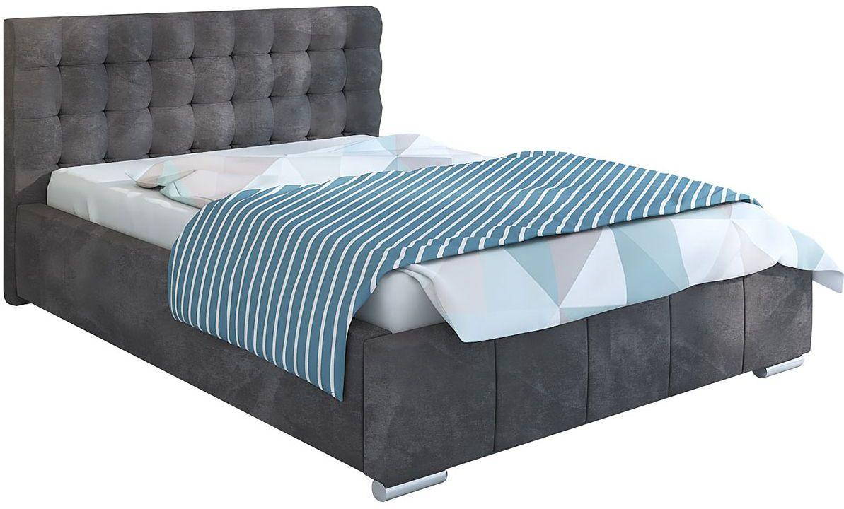 Pikowane łóżko z pojemnikiem 90x200 Elber 3X - 48 kolorów