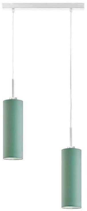 Podwójna lampa wisząca tuba z białym stelażem - EX364-Maderix - 18 kolorów