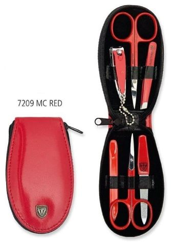 Mini zestaw do obcinania paznokci - 7209 MC RED