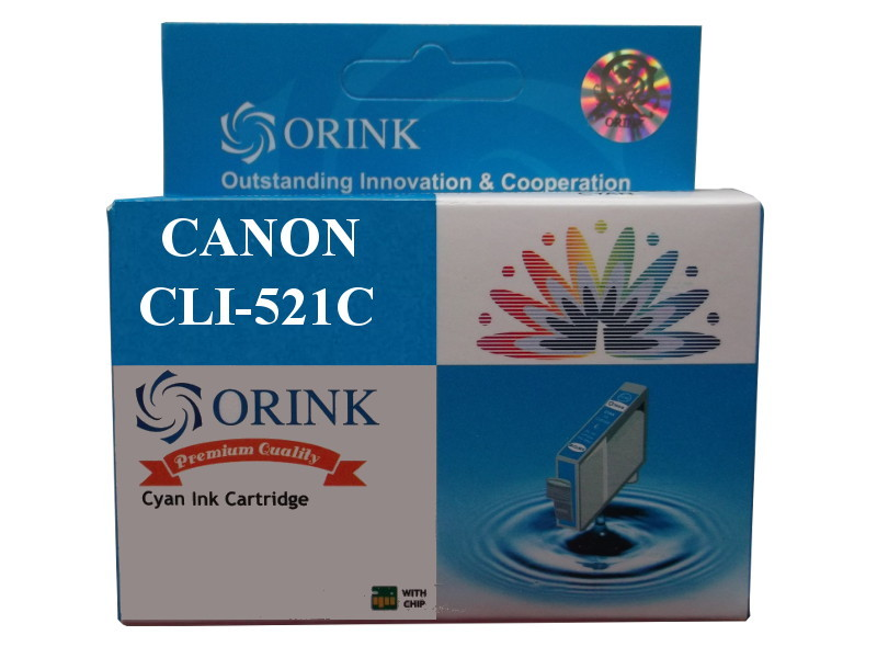 zastępczy atrament Canon [CLI-521C] cyan 100% nowy