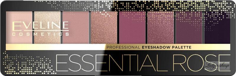 Eveline Cosmetics - Professional Eyeshadow Palette - Paleta 8 cieni do powiek - 05 Essential Rose