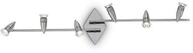 Lampa sufitowa ALFA PL6 NICKEL 006338 Ideal Lux  SPRAWDŹ RABATY  5-10-15-20 % w koszyku