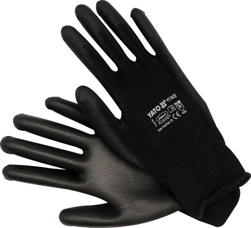 Rękawice robocze, nylonowe czarne Yato YT-7473 - ZYSKAJ RABAT 30 ZŁ