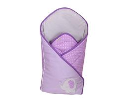 MAMO-TATO Rożek niemowlęcy usztywniony z haftem Słonik fioletowy