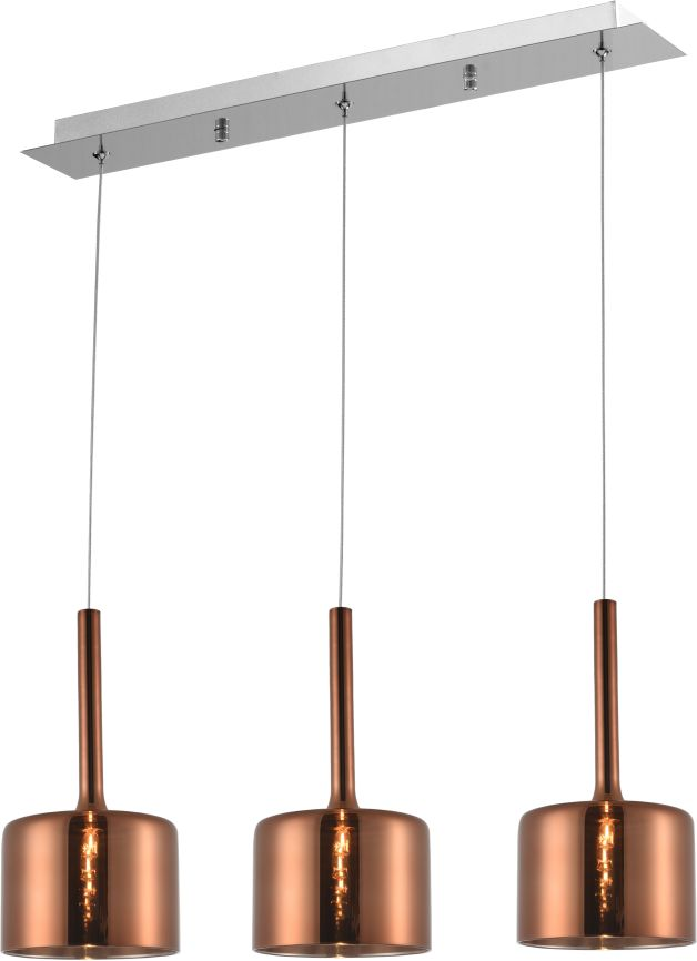 Lampa wisząca Copenhagen P03035CU COSMOLight miedziana oprawa w stylu design