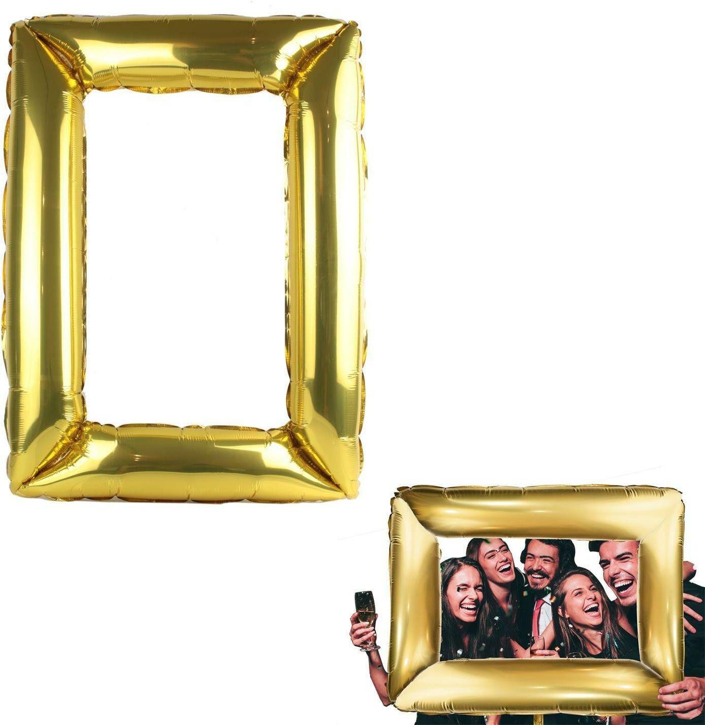 Pompowana ramka do selfie złota