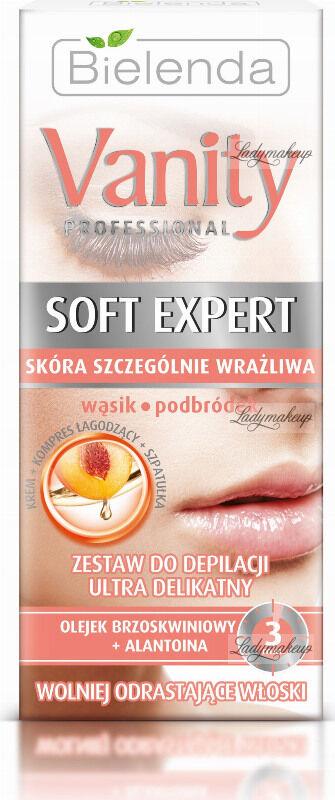 Bielenda - Vanity Professional - Soft Expert - Ultra Gentle Hair Removal Set - Mustache and Chin - Ultra delikatny zestaw do depilacji wąsika i podbródka