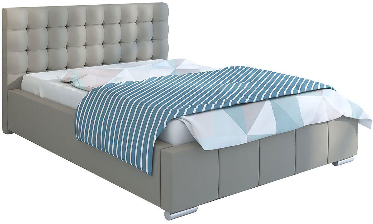 Tapicerowane łóżko z pojemnikiem 140x200 Elber 3X - 48 kolorów
