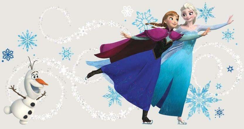 Współlokatorzy ''Disney''s Frozen'' naklejka ścienna na zagłówek z personalizacją