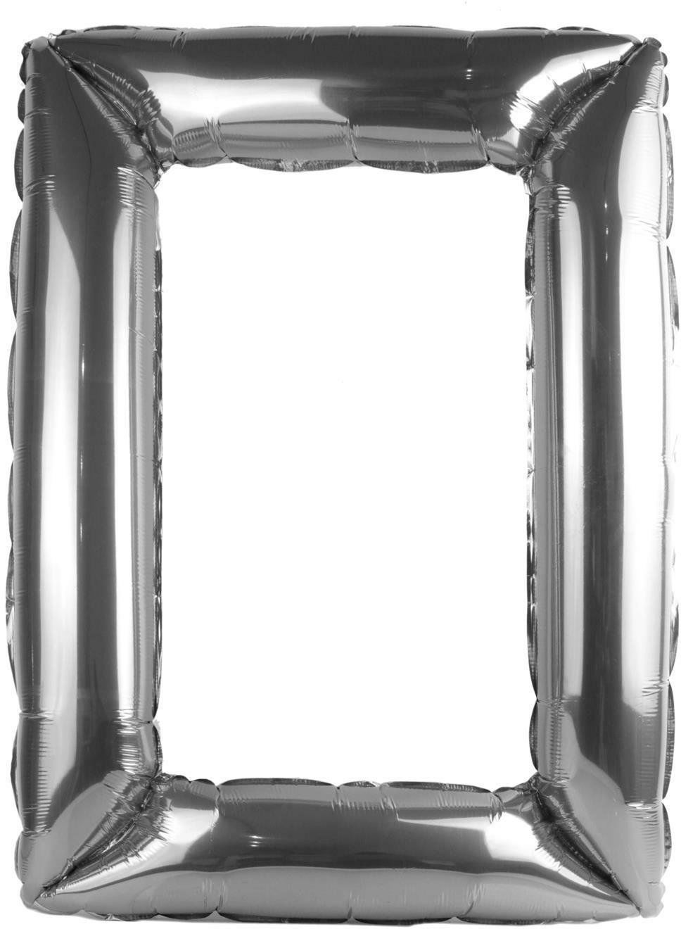 Pompowana ramka do selfie srebrna