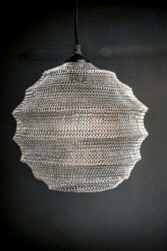 Metalowa lampa Dylan- srebrna