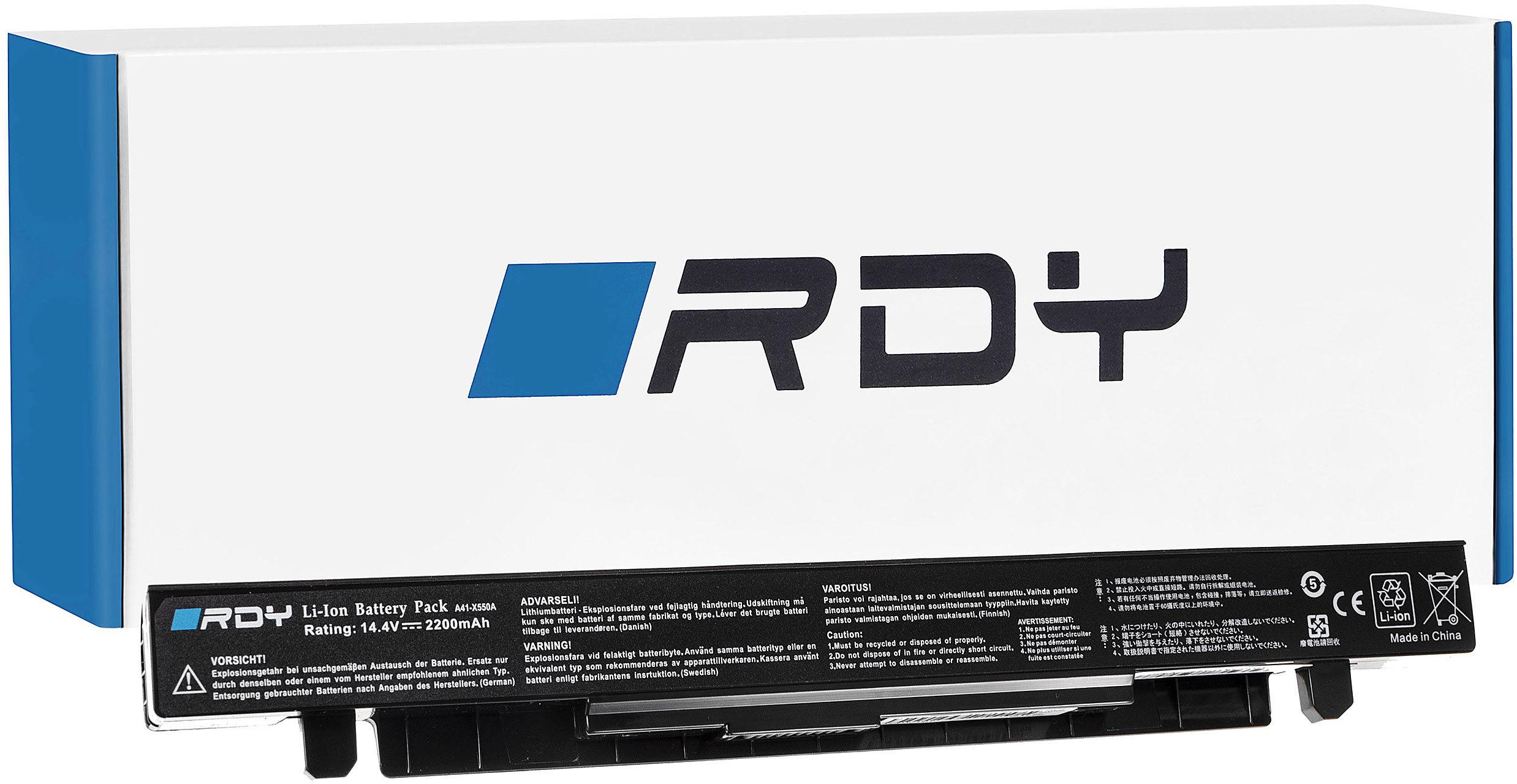 Bateria RDY A41-X550A A41-X550 do Asus A550 K550 R510 R510C R510L X550 X550C X550CA X550CC X550L X550V X550VC