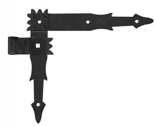 Zawias kątowy prawy 250 mm 9 mm przykręcany okiennicowy czarny