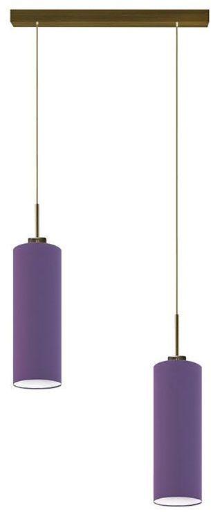 Lampa wisząca z dwoma zwisami na złotym stelażu - EX369-Maderix - 18 kolorów