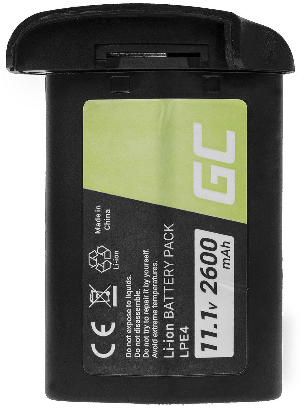 Akumulator Bateria Green Cell  LP-E4 LP-E4N LPE4N do Canon EOS 1D 1Ds 1D X 1D Mark III 1Ds Mark III 1D Mark IV 11.1V 2600mAh