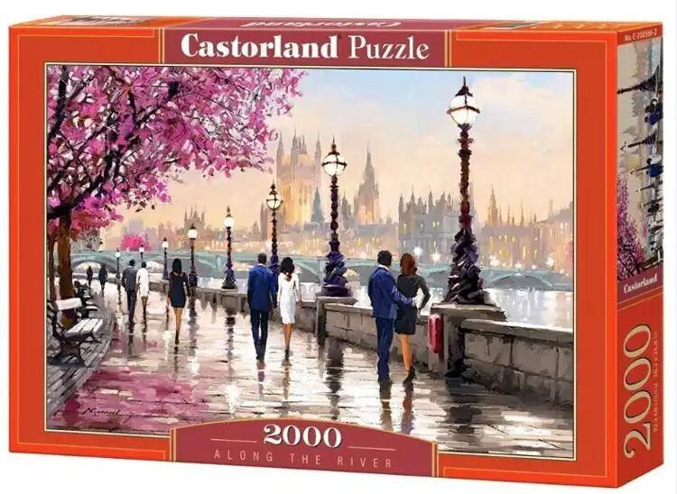 Puzzle 2000 Wzdłuż rzeki CASTOR - Castorland