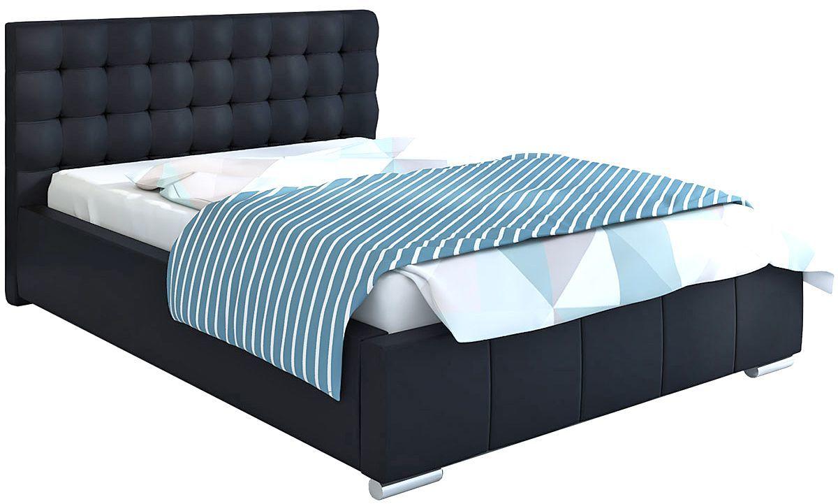 Pikowane łóżko z zagłówkiem 160x200 Elber 3X - 48 kolorów