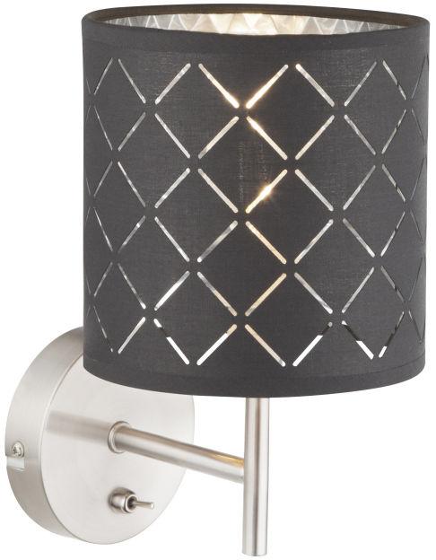 Globo KIDAL 15228W kinkiet lampa ścienna szary srebrny metalik 1xE14 40W 15cm