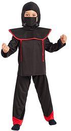 Carnival Toys  kostium dziecięcy Ninja unisex, wielokolorowy, jeden rozmiar, 66025