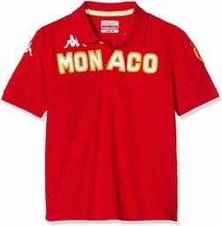 Kappa koszulka polo Eroi AS Monaco, dla dzieci rozmiar uniwersalny czerwony/biały
