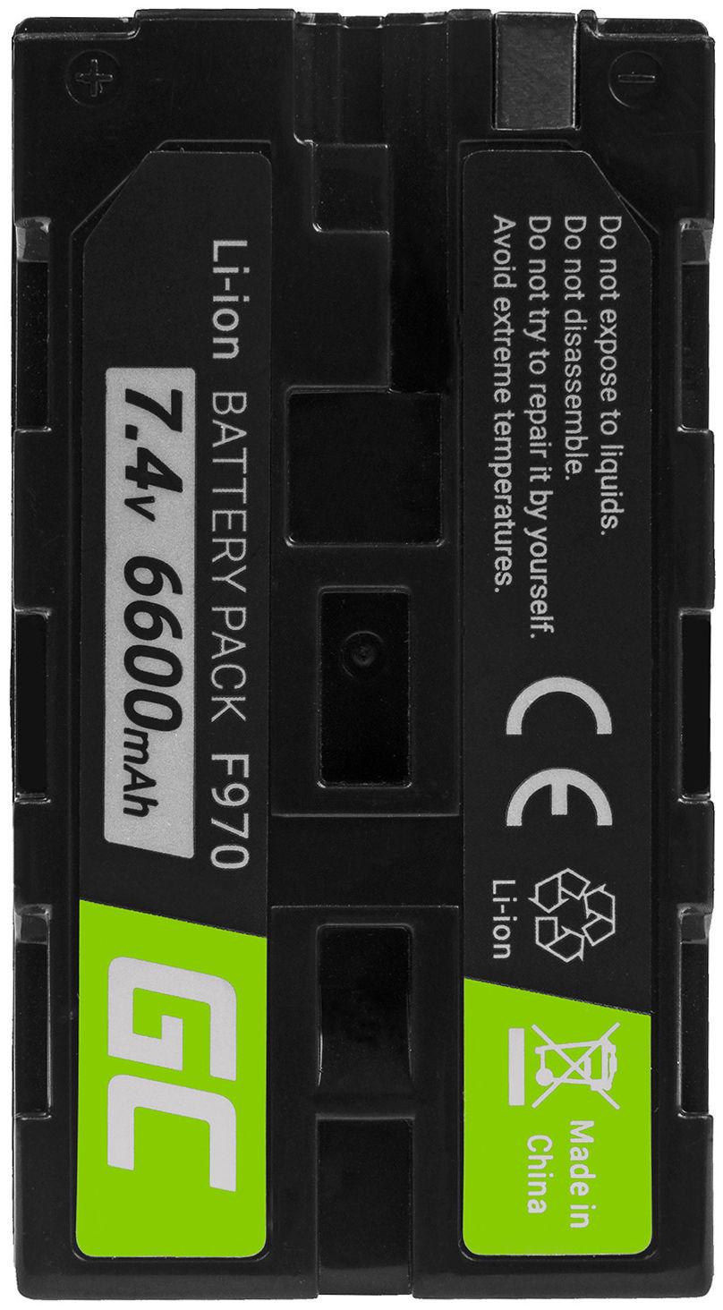 Akumulator Bateria Green Cell  NP-F550 NP-F750 NP-F530 do Sony MVC FDR3E FD200 DCR TRV120E VX2100 TRV320E HDR-FX1 7.2V 6600mAh