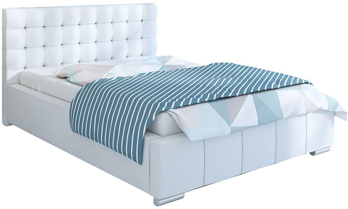 Pikowane łóżko ze schowkiem 180x200 Elber 2X - 48 kolorów