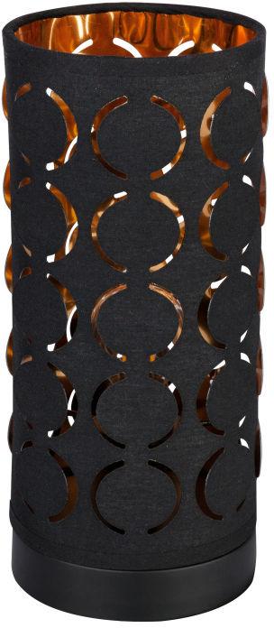 Globo HARALD 15329T lampa stołowa czarna czarno-złoty 1xE14 40W 11cm