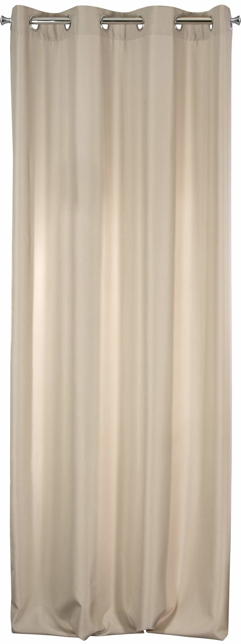 Design91 zasłona gładka matowa 8 oczek miękka firanka 1 szt. nowoczesna prosta sypialnia pokój dziecięcy salon, materiał, cappuccino, 140 x 250 cm