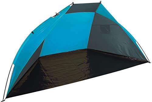 Bo Camp ochrona przed wiatrem, szary/niebieski, 240 x 120 x 120 cm