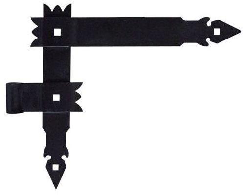 Zawias kątowy lewy 370 mm 16 mm przykręcany okiennicowy czarny