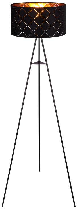 Globo SUNNA 15334S lampa podłogowa czarna czarno-złoty 1xE27 40W 69cm