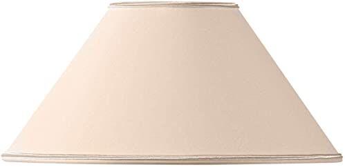 Klosz lampy w kształcie retro, 20 x 08 x 12 cm, beżowy/różowy
