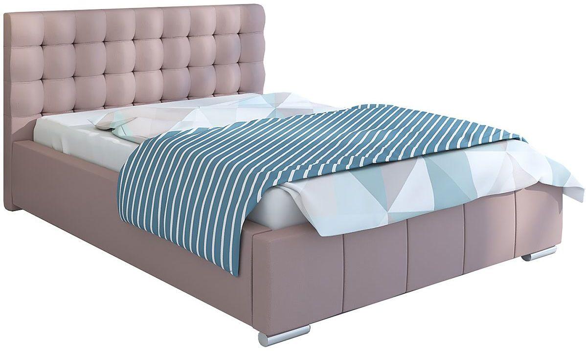 Dwuosobowe łóżko z pojemnikiem 200x200 Elber 3X - 48 kolorów