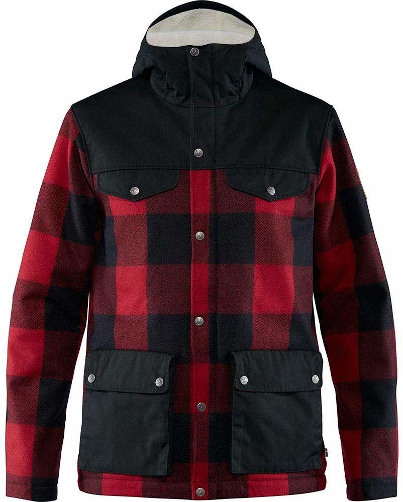 FJALLRAVEN Greenland Re-Wool męska kurtka M kamizelka, czerwono-czarna, M