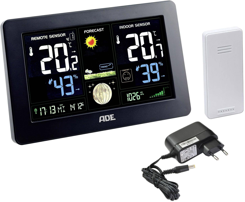 ADE WS1704 Cyfrowa stacja pogody z radiowym czujnikiem