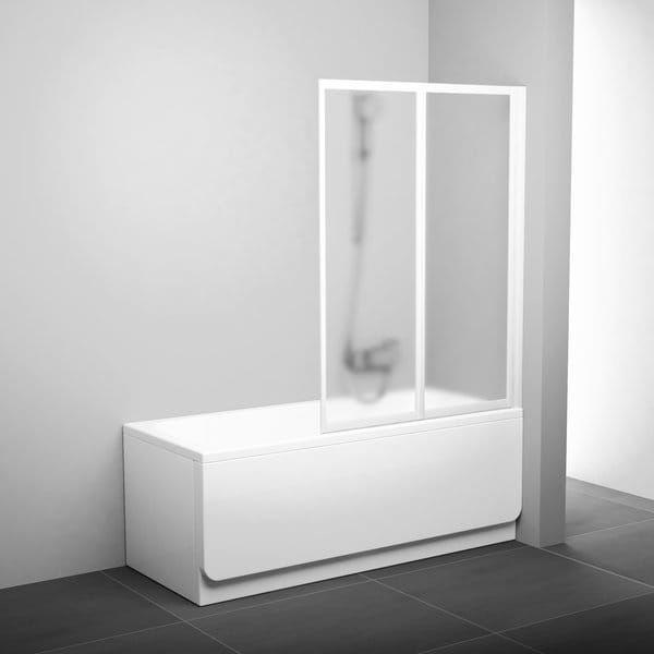 RAVAK parawan nawannowy VS2 105 Biały+ transparent 796M0100Z1