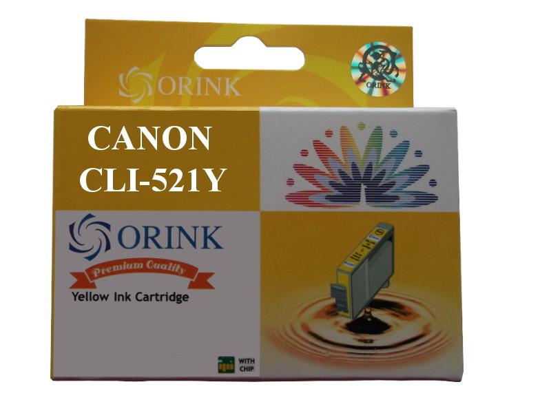 zastępczy atrament Canon [CLI-521Y] yellow 100% nowy
