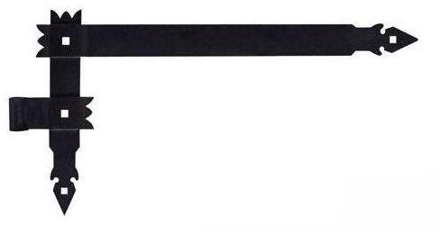 Zawias kątowy lewy 600 x 360 mm 16 mm przykręcany okiennicowy czarny