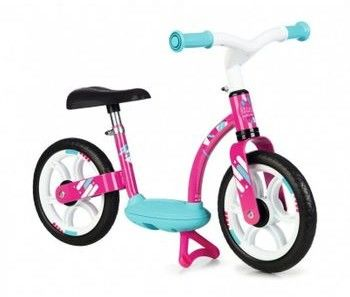 SMOBY Rowerek Biegowy Dla dzieci Ciche Koła Różowy