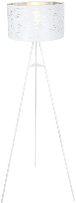 Globo BARCA 15341S lampa podłogowa biała chrom 1xE27 40W 69cm