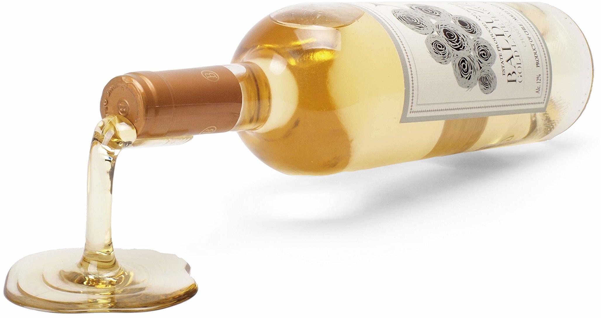 ludi-vin 8809384180382 uchwyt na wino z przezroczystym plastikiem 8,6 x 8,5 x 7,5 cm