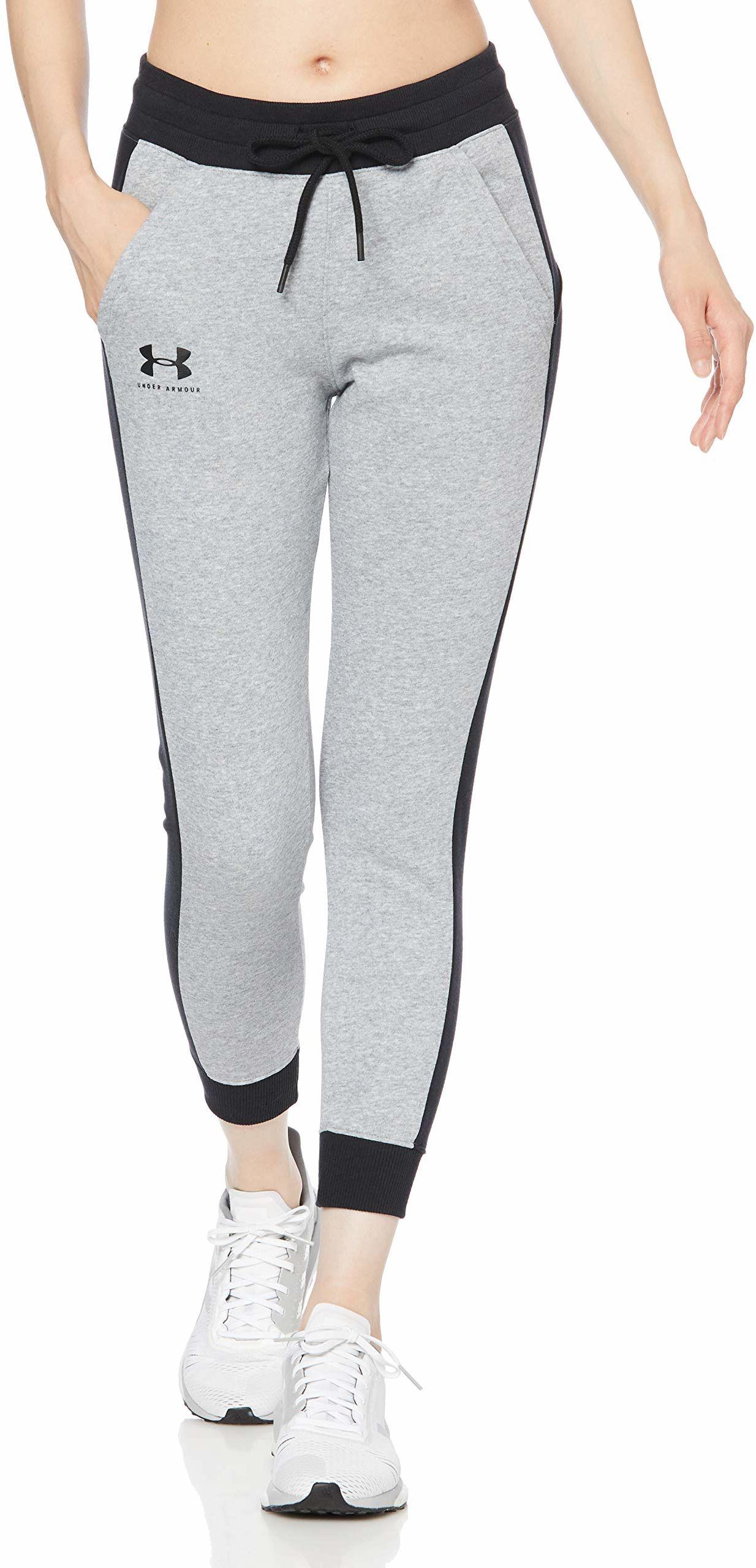 Under Armour damskie rywala polar graficzny nowość spodnie Steel Medium Heather / / Black (035) L