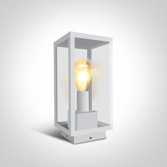 Lampa stojąca ogrodowa Gabbia 1 punktowa IP43 biała 67406E/W - OneLight Do -17% rabatu w koszyku i darmowa dostawa od 299zł !