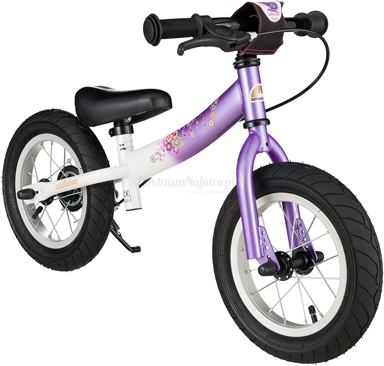 """Rowerek biegowy 12"""" XL BIKESTAR GERMANY sport kolor fioletowo biały"""