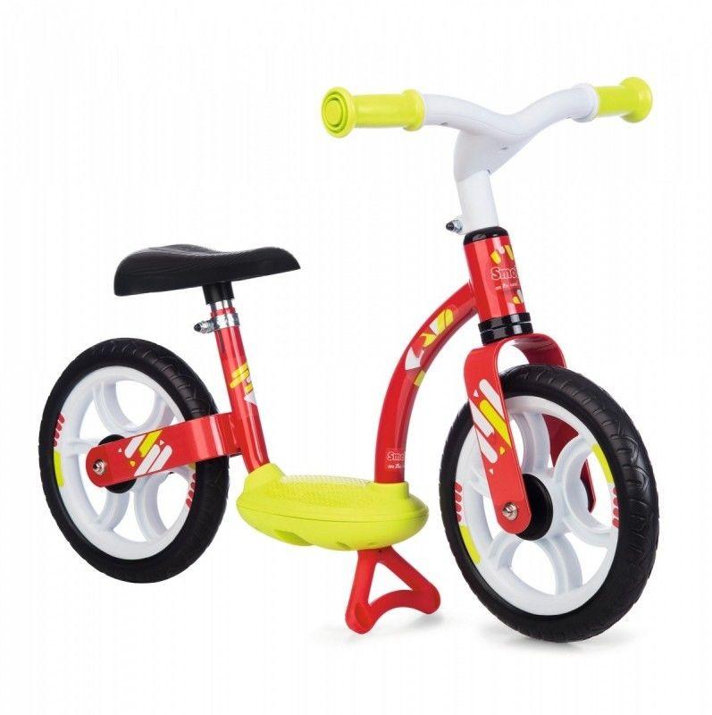 SMOBY Rowerek Biegowy Dla dzieci Ciche Koła Czerwony
