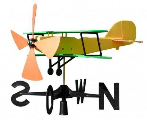 Wiatrowskaz 55x47 cm tworzywo, Samolot dwupłatowy