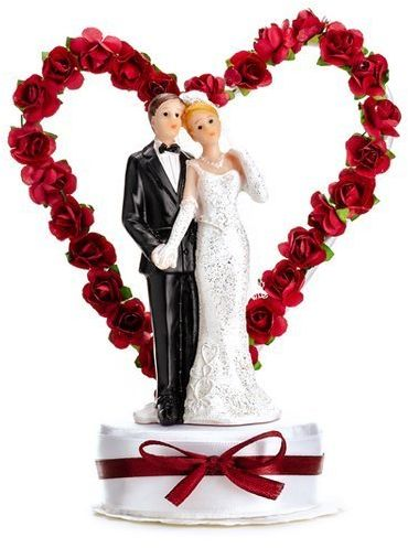 Figurka na tort weselny Młoda Para 1 sztuka pmf44-008b