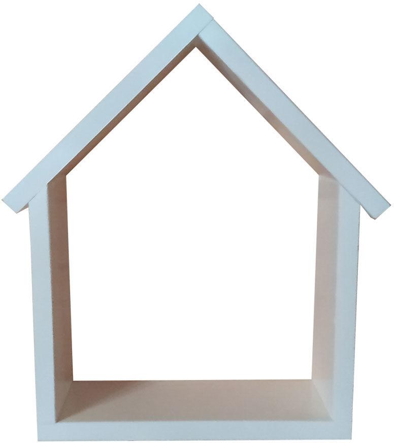 Biała skandynawska półka wisząca 30 kolorów - Dorina 2X